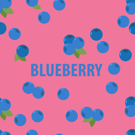 blueberry: seamless pattern of  blueberry Illustration
