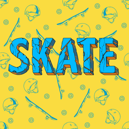 skate board: Skate board typography t-shirt graphics,sport,vectors and seamless pattern
