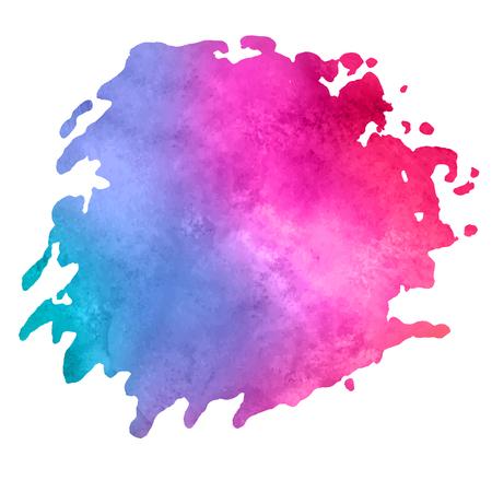 aquarelle: colorful watercolor stain with aquarelle paint blotch Illustration