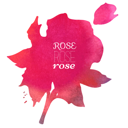 aquarel: colorful watercolor stain with aquarelle paint blotch rose watercolor hand-painted