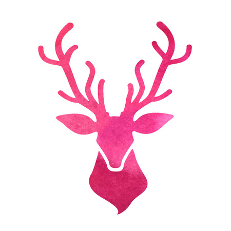 cabeza: cabeza de ciervo acuarela
