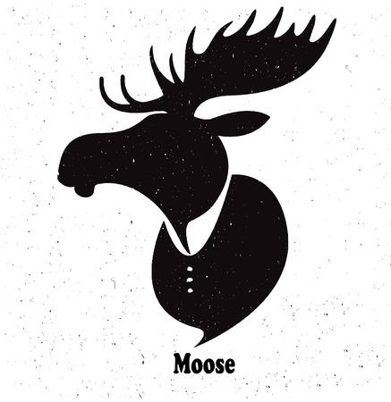 wild venison: moose head