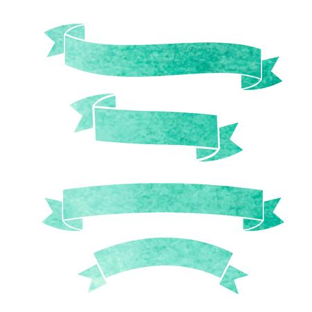 vector aquarel kleurrijke linten banners
