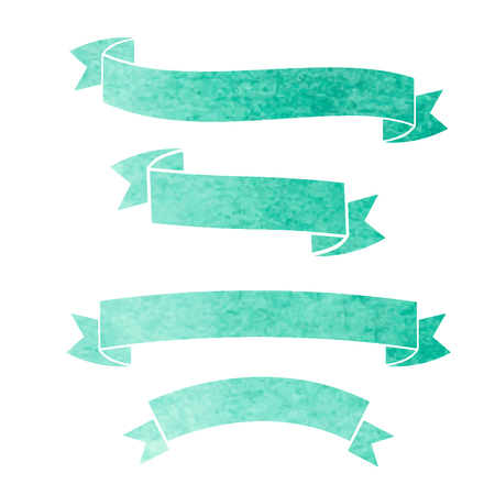 Vektor Aquarell bunte Bänder Banner Illustration