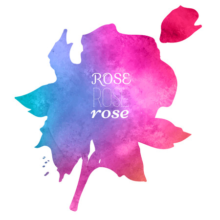 aquarelle: colorful watercolor stain with aquarelle paint blotch,rose watercolor hand-painted