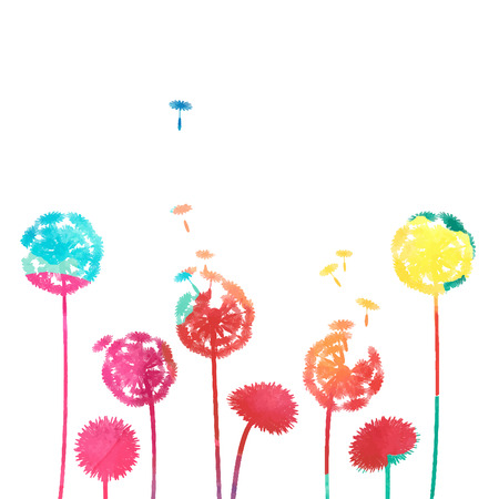 posterity: watercolor dandelion background Illustration