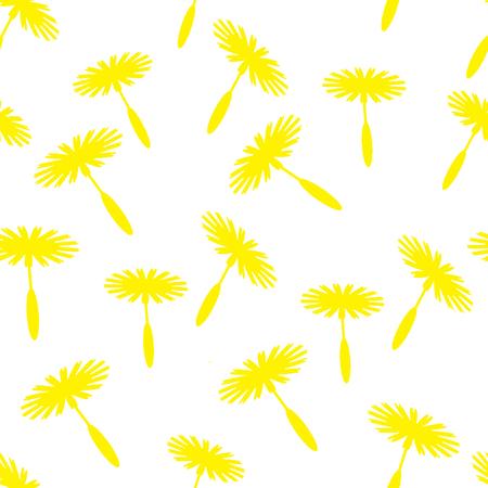 posterity: dandelion background.seamless pattern Illustration