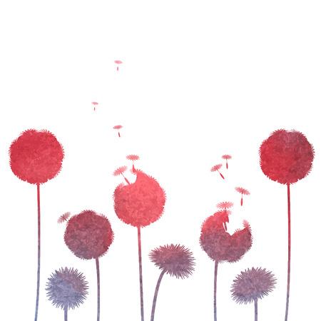 overblown: watercolor dandelion background Illustration