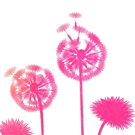 posterity: watercolor dandelion background Illustration