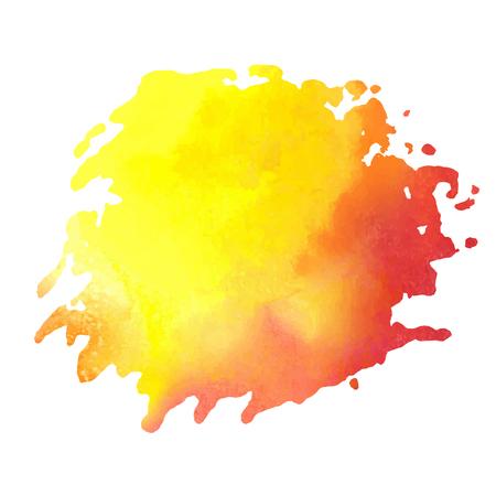 aquarel: colorful watercolor stain with aquarelle paint blotch Illustration