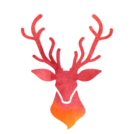wild venison: watercolor deer head