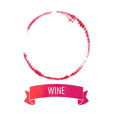 red wine stain: wine stain circle in red tones