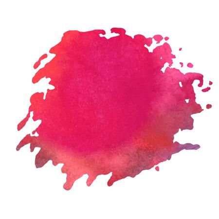blotch: colorful watercolor stain with aquarelle paint blotch Illustration