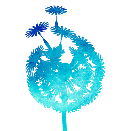watercolor dandelion Иллюстрация
