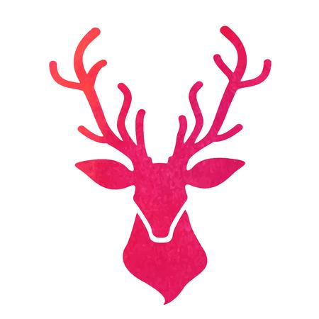 venison: watercolor deer head