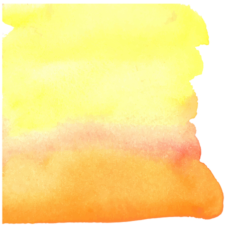 blotch: colorful yellow-red watercolor stain with aquarelle paint blotch Illustration