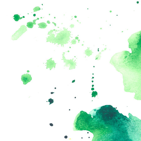 joyfulness: set of watercolor colorful drops and spray on a white background Illustration