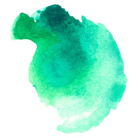 kleurrijke blauw-groen aquarel vlek met aquarel verf vlek