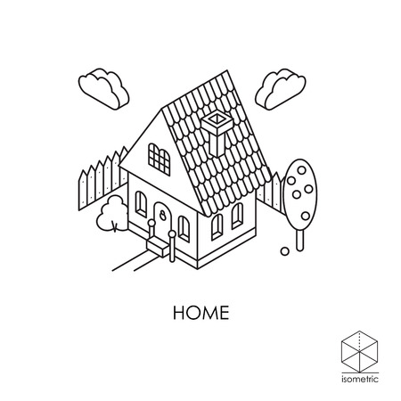 staging: Isometric icon House Illustration