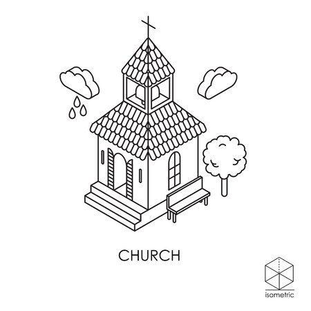 overhang: Isometric icon church