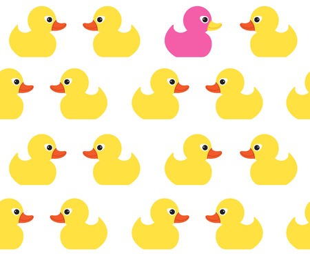 ducky: Seamless vector pattern with cute bright yellow ducks. Duck toy baby shower illustration. For cards, invitations,  backgrounds and scrapbooks, wallpapers