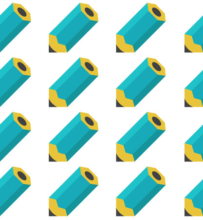 undertaking: Seamless pattern of pencils in retro style Illustration