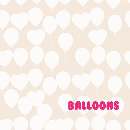 rewarding: Retro flat balloons pattern. Great for Birthday, wedding, anniversary, rewarding and winning design. Seamless background Illustration