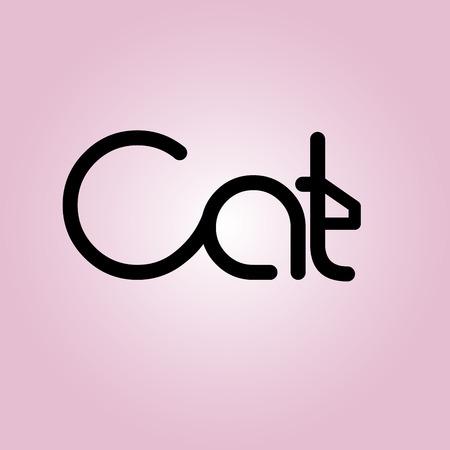 pet store advertising: Cat   Template Design Vector Illustration