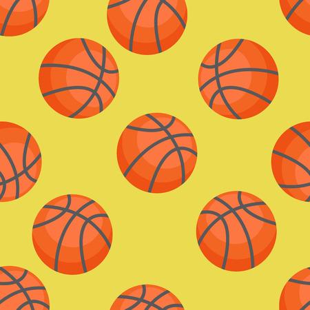 Seamless pattern of basketballs. Basketball Illustration