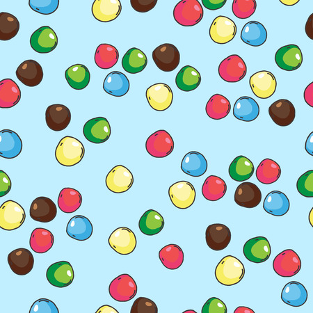 pastille: Seamless pattern of small colorful stones or sweet dragees
