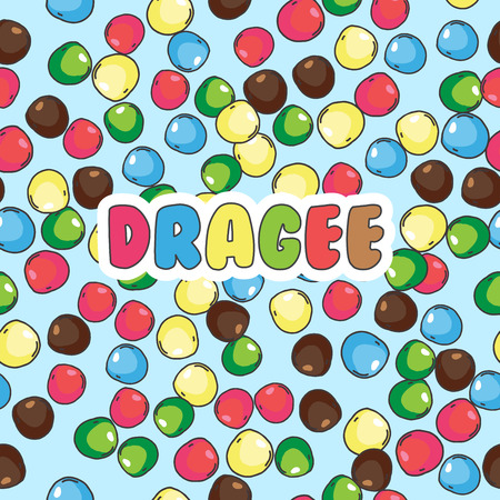 Seamless pattern of small colorful stones or sweet dragees.Seaml Illustration