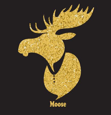 wild venison: Golden moose head.