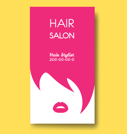Hair salon business card templates with pink hair and pink lips hair salon business card templates with pink hair and pink lips stock vector 76074285 fbccfo Images