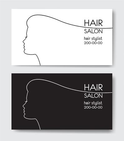 Hair salon business card templates. 向量圖像