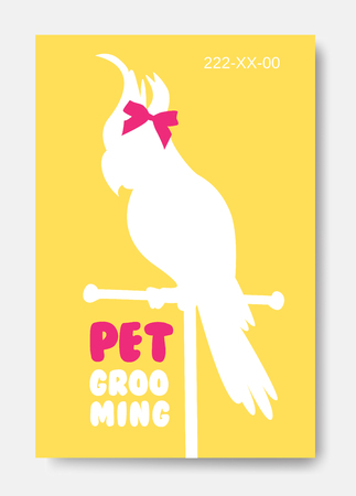 Banner with parrot silhouette.