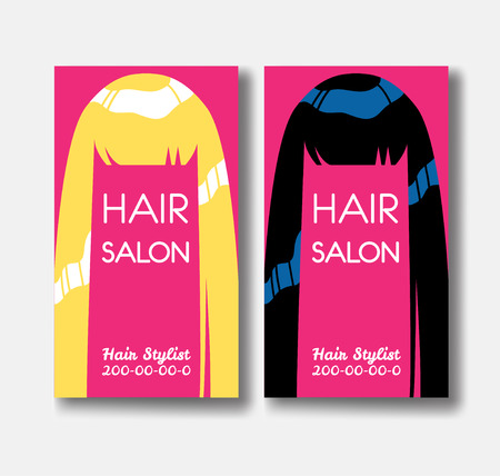 Hair salon business card templates with blonde hair and black hair salon business card templates with blonde hair and black ha stock vector 78080045 accmission Choice Image
