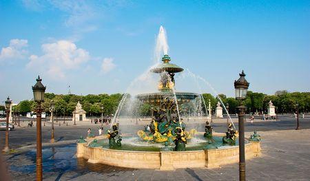 champs elysees: Paris. Place de la Concorde: Monuments of Paris Fountain at the concorde place