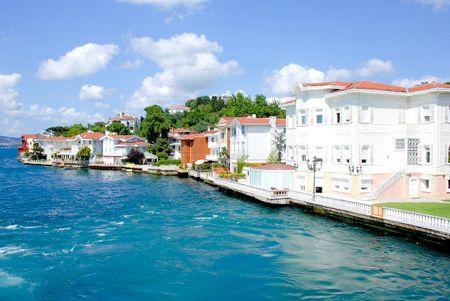 istanbul: Mansions on the coast of the Bosporus Stock Photo