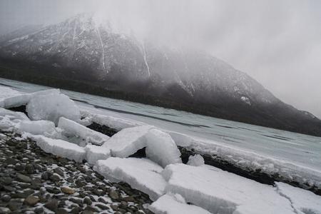 Iceberg River along the Alaska