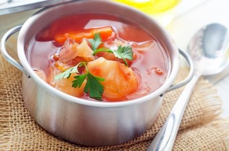 Délicieuse soupe ragoût de veau avec de la viande et des légumes