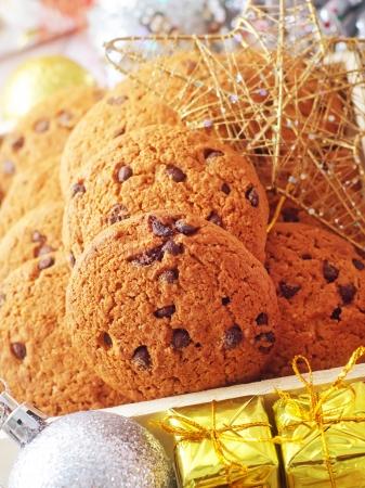 Cookies for christmas and christmas decoration photo