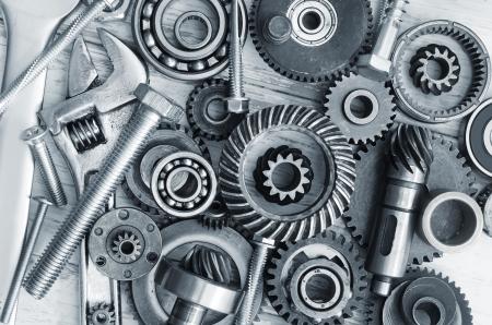 mechanical: benodigdheden voor industriële, bouten en moeren Stockfoto