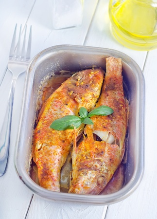 asian redtail catfish: baked fish
