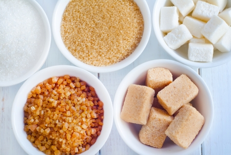 brown sugar: different kind of sugar Stock Photo