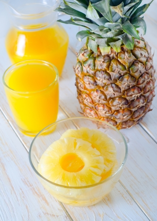 pineapple and juice photo