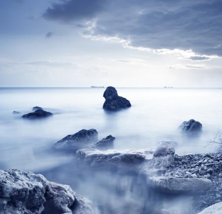 sea storm: sea in Crimea Stock Photo