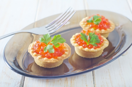 tartalets with caviar Stock Photo - 17114111