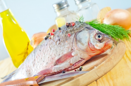 fresh carp Stock Photo - 17248639