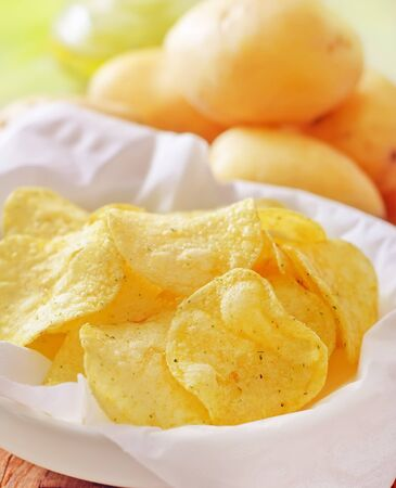 chips from potato photo