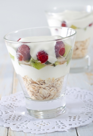 oat flakes with yogurt Stock Photo - 17286762